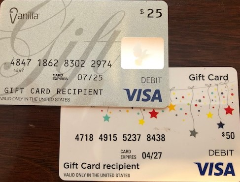 How to use multiple Visa Gift Cards online!